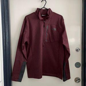 The North Face men's 1/2 zip up sweatshirt size M